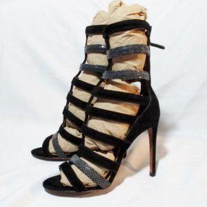 NEW ALAIA PARIS Stiletto Caged Sandal BLACK Shoe
